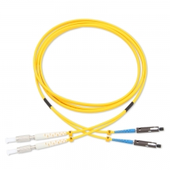 DIN-MU Duplex OS2 9/125 SMF Fiber Patch Cable