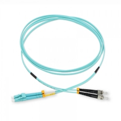 LC/UPC-ST/UPC Duplex 10G OM4 50/125 Multi-mode Fiber Patch Cable