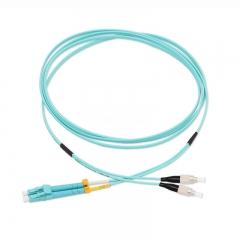 LC/UPC-FC/UPC Duplex OM3 50/125 Multi-mode Fiber Patch Cable