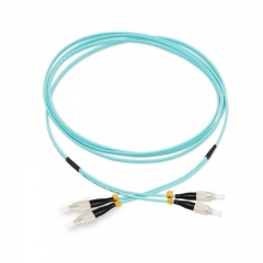 FC/UPC-FC/UPC Duplex 10G OM4 50/125 Multi-mode Fiber Patch Cable