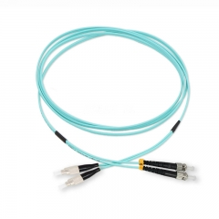 ST/UPC-FC/UPC Duplex 10G OM4 50/125 Multi-mode Fiber Patch Cable