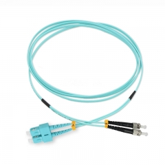 SC/UPC-ST/UPC Duplex OM3 50/125 Multi-mode Fiber Patch Cable