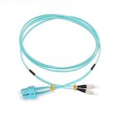 SC/UPC-FC/UPC Duplex OM3 50/125 Multi-mode Fiber Patch Cable
