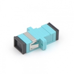 SC/UPC to SC/UPC 10G OM3 Simplex Multi-mode Plastic Fiber Optic Adapter