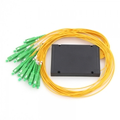 1x16 Fiber optical PLC Splitter, ABS box type splitter, 2.0mm