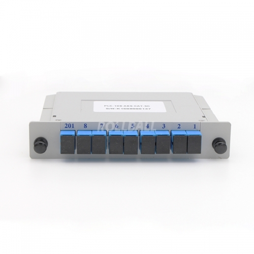 2x8 Fiber optical PLC Splitter, LGX cassette fiber splitter, 2.0mm