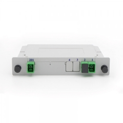 2x2 Fiber optical PLC Splitter, LGX cassette fiber splitter, 2.0mm