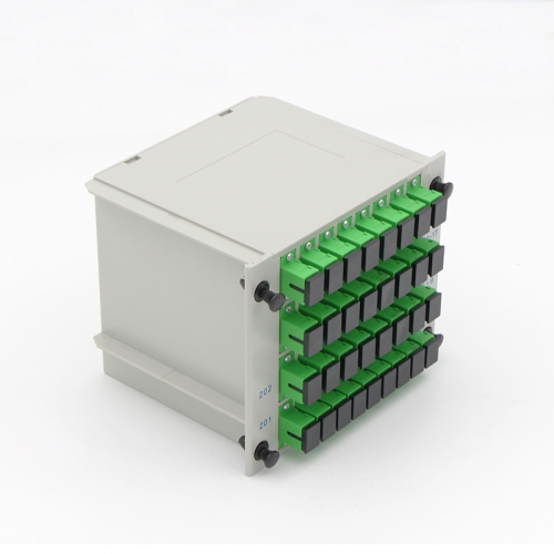 2x64 Fiber optical PLC Splitter, LGX cassette fiber splitter, 2.0mm