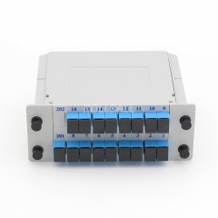 2x16 Fiber optical PLC Splitter, LGX cassette fiber splitter, 2.0mm
