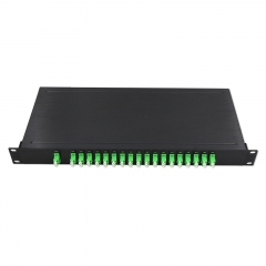 18 Channels 1270-1610nm Dual Fiber CWDM Mux Demux, 1U Rack Module